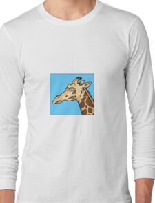 Giraffe is not amused Long Sleeve T-Shirt