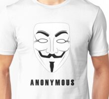 "Anonymous ""Guy Fawkes"" mask -- For anonymous users Unisex T-Shirt"