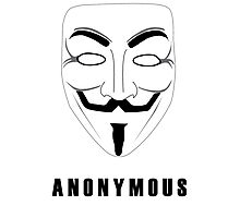 """Anonymous """"Guy Fawkes"""" mask -- For anonymous users Photographic Print"""