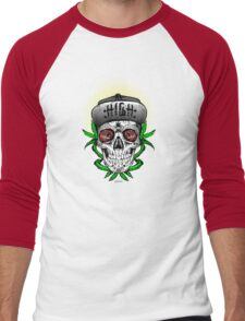 Weed Sugar skull Men's Baseball ¾ T-Shirt