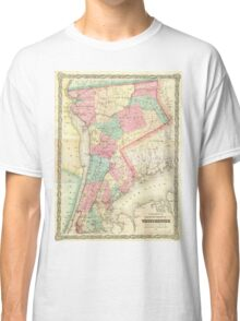 Vintage Map of Westchester New York (1864) Classic T-Shirt