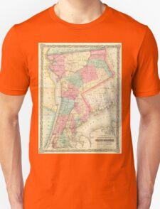 Vintage Map of Westchester New York (1864) Unisex T-Shirt