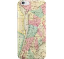 Vintage Map of Westchester New York (1864) iPhone Case/Skin