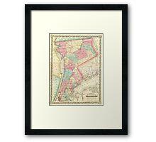Vintage Map of Westchester New York (1864) Framed Print