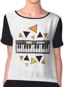 Music keyboard Chiffon Top