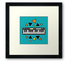 Music keyboard Framed Print