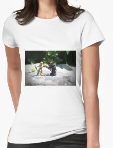Action Figures Womens Fitted T-Shirt