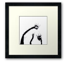 the creatures from the drain 7 Framed Print