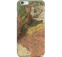 Vintage Map of Columbia (1886) iPhone Case/Skin