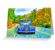 Painted Drive Greeting Card