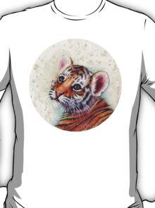 Tiger Cub Watercolor Art T-Shirt