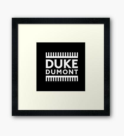 DUKE DUMONT Framed Print