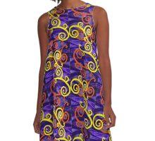 Swirl Ville A-Line Dress