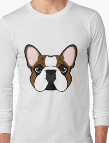 Frenchie - Fawn Pied Long Sleeve T-Shirt