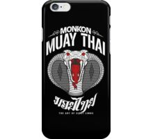 monkon muay thai cobra thailand martial art sport logo dark shirt iPhone Case/Skin