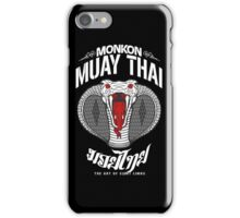 monkon muay thai cobra thailand martial art sport logo dark shirt iPhone Case/Skin
