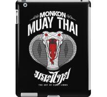 monkon muay thai cobra thailand martial art sport logo dark shirt iPad Case/Skin