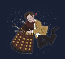 Cute Doctor And Dalek by Fox Ferreira