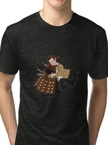 Cute Doctor And Dalek Tri-blend T-Shirt
