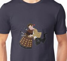Cute Doctor And Dalek Unisex T-Shirt
