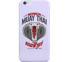 monkon muay thai cobra thailand martial art sport logo light or white shirt iPhone Case/Skin