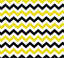 Black and Gold Chevron Pattern by StudioBlack