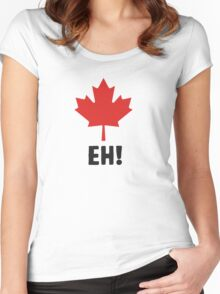 Canada EH! Make every day Canada day Women's Fitted Scoop T-Shirt