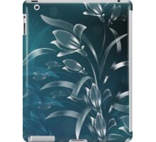 Teal Lilies in the Moonlight iPad Case/Skin