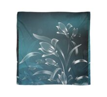 Teal Lilies in the Moonlight Scarf