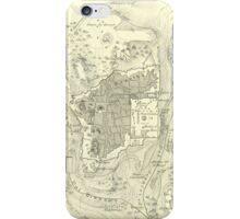 Vintage Map of Jerusalem Israel (1859) iPhone Case/Skin