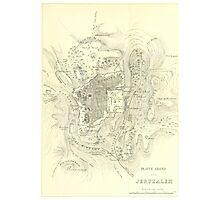 Vintage Map of Jerusalem Israel (1859) Photographic Print