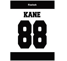 Patrick Kane number 88 best ever - black Photographic Print