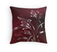 Silver Lilies in the Setting Sun Throw Pillow