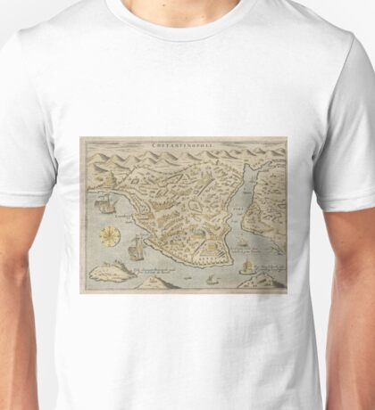 Vintage Pictorial Map of Constantinople (1620) Unisex T-Shirt