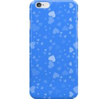 Fading Floating Hearts On Blue iPhone Case/Skin