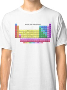 Shiny Periodic Table of the Chemical Elements Classic T-Shirt
