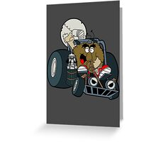 Murky and Lurky Cruise Round In Their Doom Buggy Greeting Card