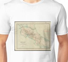 Vintage Map of Costa Rica (1903) Unisex T-Shirt
