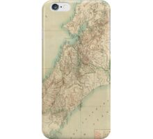 Vintage Map of Costa Rica (1903) iPhone Case/Skin