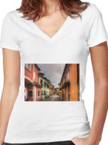 Dürnstein Hauptstraße Women's Fitted V-Neck T-Shirt