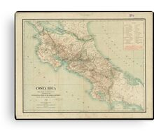 Vintage Map of Costa Rica (1903) Canvas Print