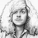 Blake Anderson Workaholics Portrait Art Drawing by OlechkaDesign