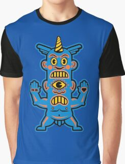 Blue Demon - Love & Hate Graphic T-Shirt