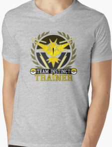 Pokemon Go | Team Instinct Trainer | Black Background | HUGE | New! | High Quality! Mens V-Neck T-Shirt