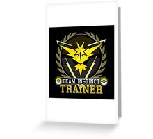 Pokemon Go | Team Instinct Trainer | Black Background | HUGE | New! | High Quality! Greeting Card