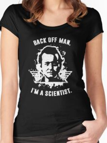 Back off man, I'm a scientist! Women's Fitted Scoop T-Shirt