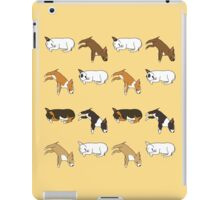 Lazy Bull Terrier - Yellow iPad Case/Skin