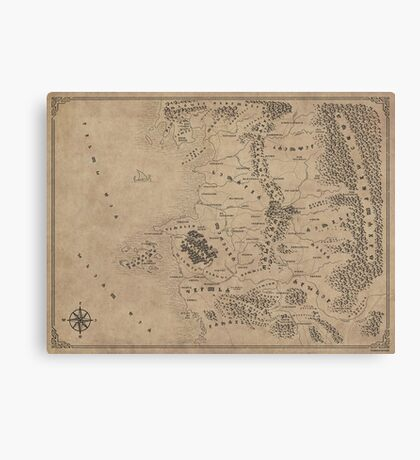 Witcher Universe Map - Glagolitic Canvas Print
