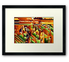 Alien City Puzzle 5 Framed Print
