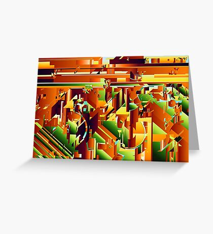 Alien City Puzzle 5 Greeting Card